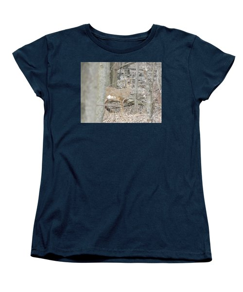 Deer Keeping Watch Women's T-Shirt (Standard Cut) by Erick Schmidt