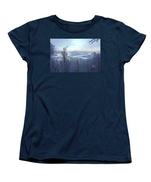 Deer Valley Winter View Women's T-Shirt (Standard Cut) by Meta Gatschenberger