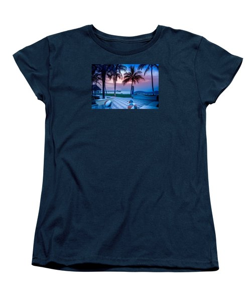 Deerfield Beach Fl Fishing Pier Women's T-Shirt (Standard Cut) by Louis Ferreira