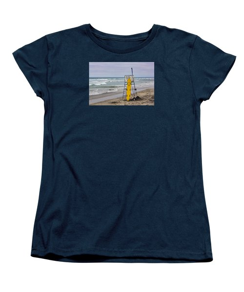 Women's T-Shirt (Standard Cut) featuring the photograph Del Mar Lifeguard Tower by Randy Bayne