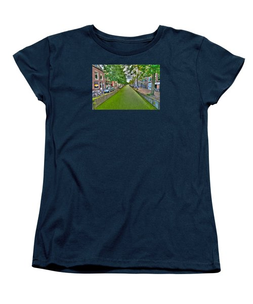 Delft Canals Women's T-Shirt (Standard Cut) by Uri Baruch