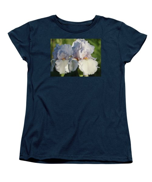 Women's T-Shirt (Standard Cut) featuring the photograph Delicate White Iris by Rebecca Overton