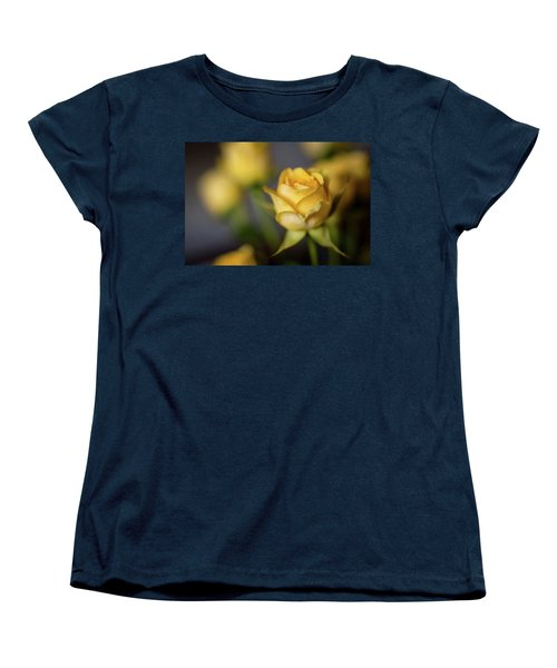 Women's T-Shirt (Standard Cut) featuring the photograph Delicate Yellow Rose  by Terry DeLuco