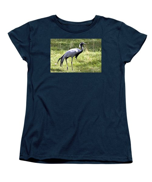 Women's T-Shirt (Standard Cut) featuring the photograph Demoiselle Crane by Teresa Zieba