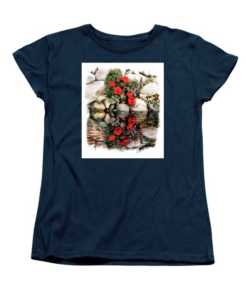 Women's T-Shirt (Standard Cut) featuring the photograph Denali National Park Flowers by Joseph Hendrix