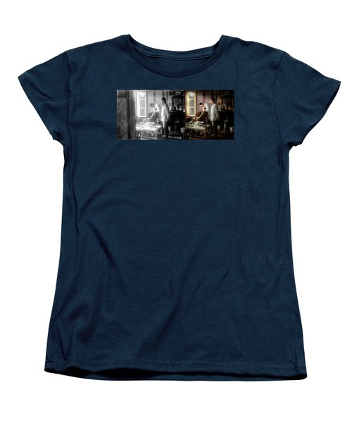 Women's T-Shirt (Standard Cut) featuring the photograph Dentist - The Horrors Of War 1917 - Side By Side by Mike Savad