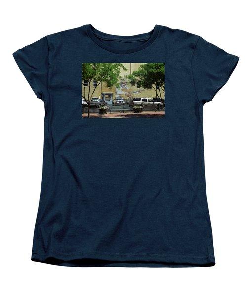 Denver Cowboy Parking Women's T-Shirt (Standard Cut) by Frank Romeo