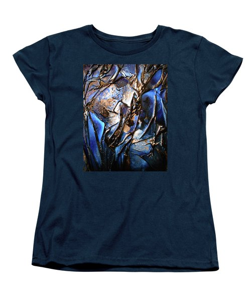 Women's T-Shirt (Standard Cut) featuring the mixed media Depth by Angela Stout