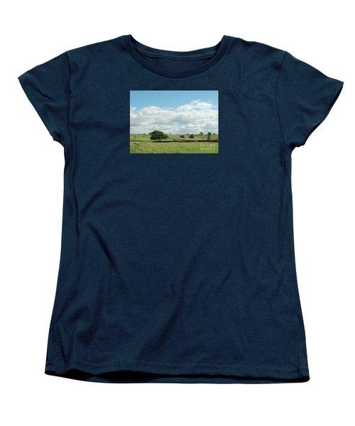 Derbyshire Landscape Women's T-Shirt (Standard Cut) by Mini Arora
