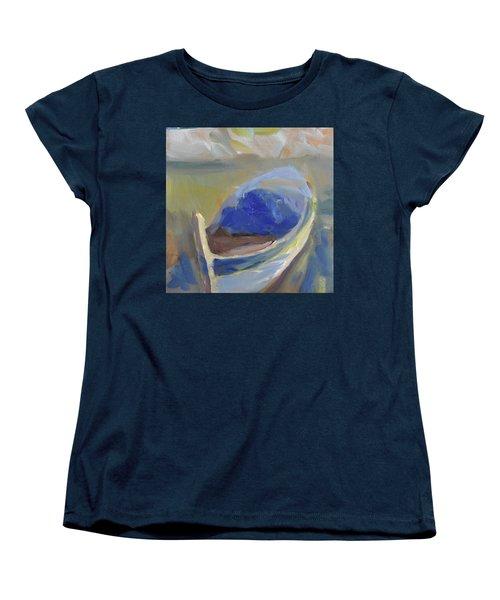 Women's T-Shirt (Standard Cut) featuring the painting Derek's Boat. by Julie Todd-Cundiff