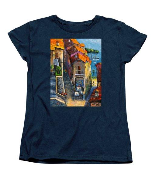 Desenzano Del Garda Women's T-Shirt (Standard Cut) by Mikhail Zarovny