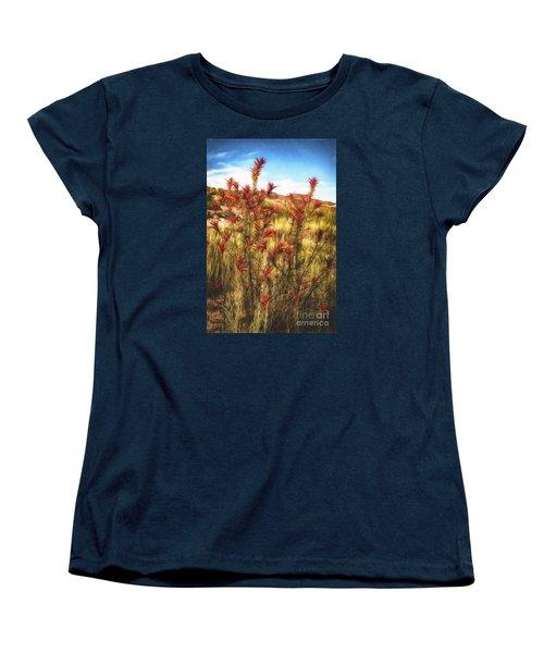 Women's T-Shirt (Standard Cut) featuring the photograph Desert Flora  ... by Chuck Caramella
