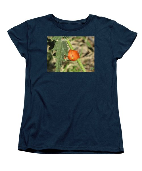 Desert Globemallow Bloom 202 Women's T-Shirt (Standard Cut) by En-Chuen Soo