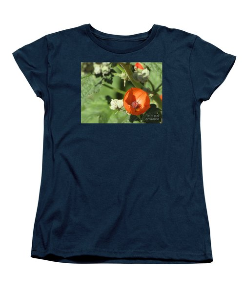 Desert Globemallow Bloom 215 Women's T-Shirt (Standard Cut) by En-Chuen Soo
