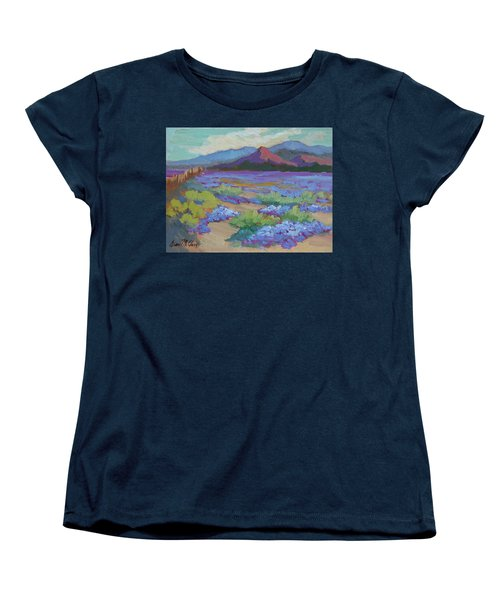 Women's T-Shirt (Standard Cut) featuring the painting Desert In Bloom by Diane McClary