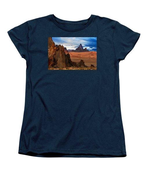 Women's T-Shirt (Standard Cut) featuring the photograph Desert Rocks by Harry Spitz