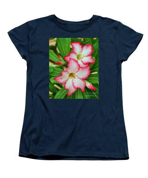 Desert Rose With Buds And Water Women's T-Shirt (Standard Cut) by Larry Nieland