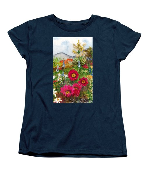 Women's T-Shirt (Standard Cut) featuring the painting Desert Spring by Eric Samuelson