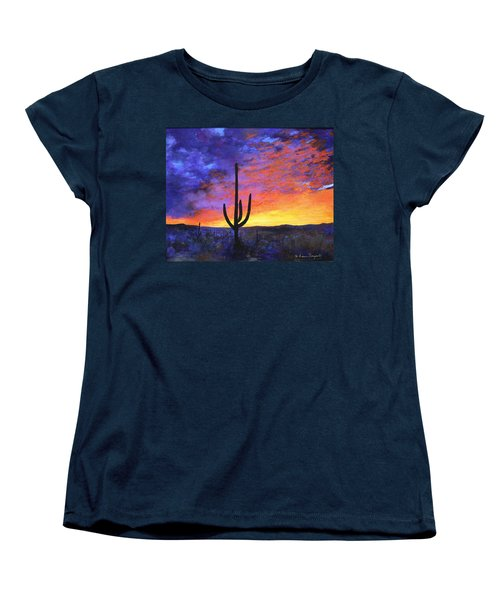 Desert Sunset 4 Women's T-Shirt (Standard Cut) by M Diane Bonaparte
