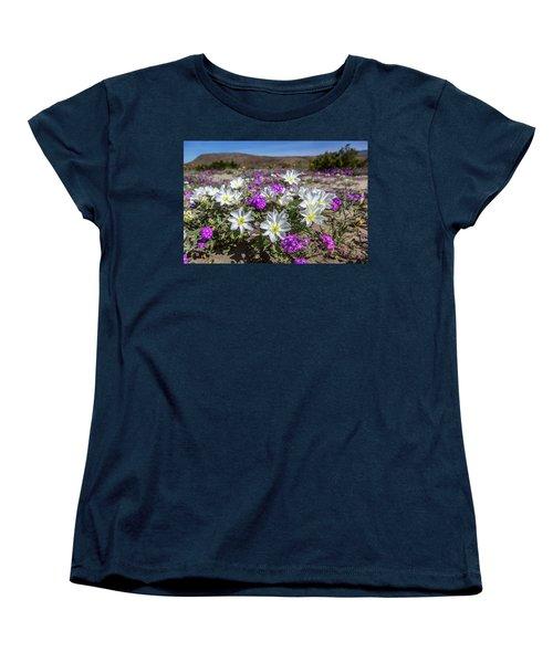 Women's T-Shirt (Standard Cut) featuring the photograph Desert Super Bloom 2017 by Peter Tellone