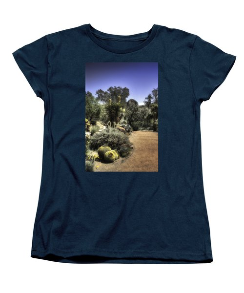Desert Walkway Women's T-Shirt (Standard Cut) by Lynn Geoffroy