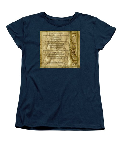 Desiderata #8 Women's T-Shirt (Standard Cut) by Claudia Ellis