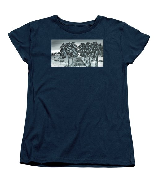 Destination 2 Women's T-Shirt (Standard Cut) by Kenneth Clarke