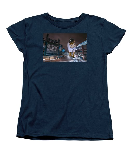Detroit Tigers At  Comerica Park Women's T-Shirt (Standard Cut) by Nicholas  Grunas