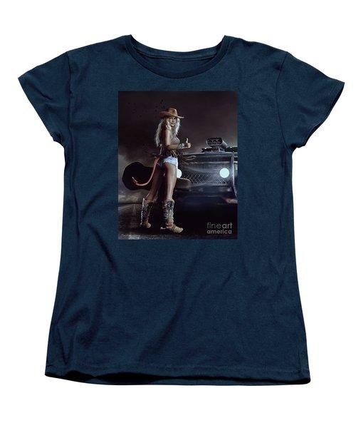 Devil In Blue Jeans Women's T-Shirt (Standard Cut) by Shanina Conway