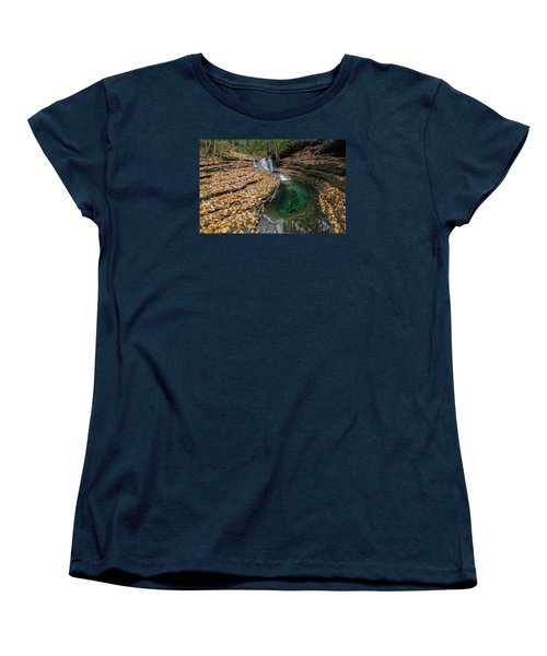 Devils Bathtub Cascade Women's T-Shirt (Standard Cut) by Serge Skiba