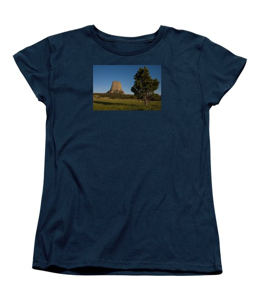 Women's T-Shirt (Standard Cut) featuring the photograph Devil's Tower by Gary Lengyel