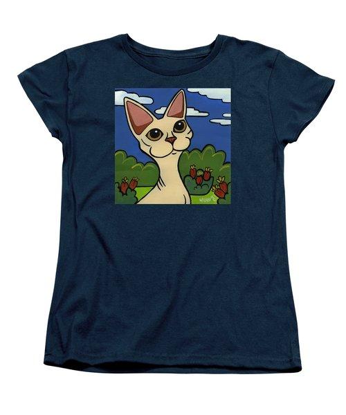 Devon Rex Women's T-Shirt (Standard Cut) by Leanne Wilkes