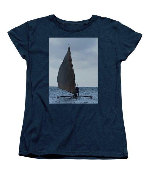 Dhow Wooden Boats In Sail Women's T-Shirt (Standard Cut) by Exploramum Exploramum