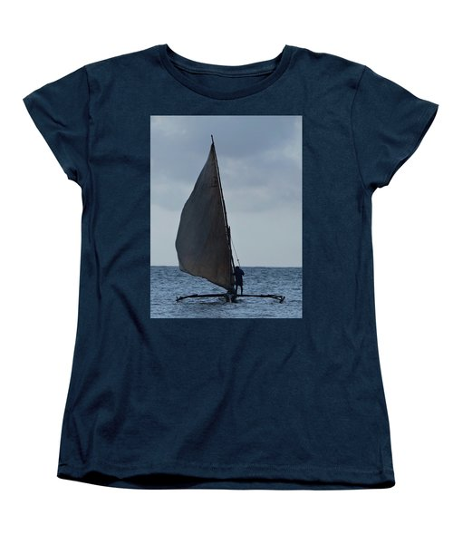 Dhow Wooden Boats In Sail Women's T-Shirt (Standard Fit)