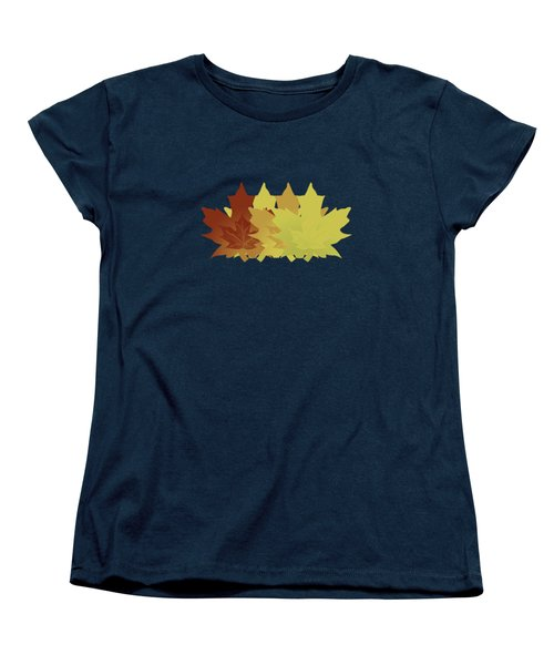 Diagonal Leaf Pattern Women's T-Shirt (Standard Cut) by Methune Hively