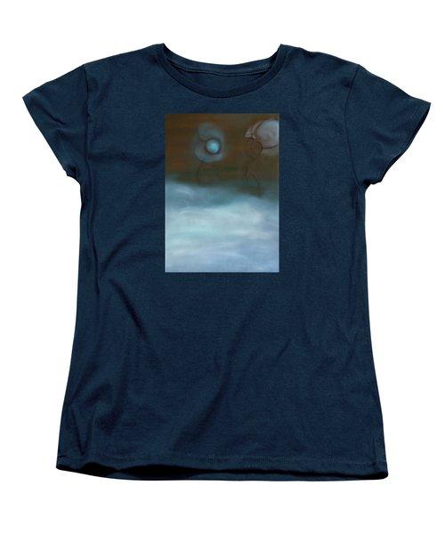Women's T-Shirt (Standard Cut) featuring the painting Dialog by Min Zou