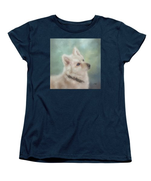Diamond, The White Shepherd Women's T-Shirt (Standard Cut) by Colleen Taylor