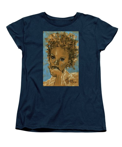 Women's T-Shirt (Standard Cut) featuring the drawing Diamond's Daughter by P J Lewis