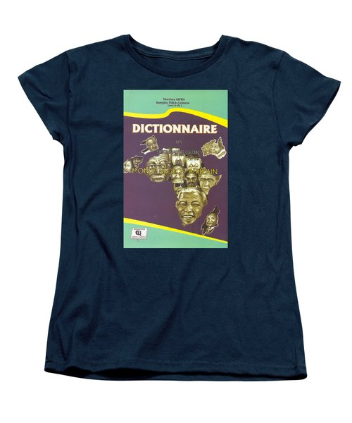 Women's T-Shirt (Standard Cut) featuring the painting Dictionary Of Negroafrican Celebrities 1 by Emmanuel Baliyanga