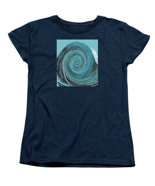 Digital Curl Women's T-Shirt (Standard Cut) by Joan Hartenstein