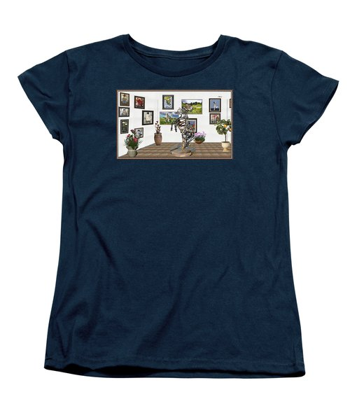 Women's T-Shirt (Standard Cut) featuring the mixed media Digital Exhibition _ Statue Of Branches by Pemaro