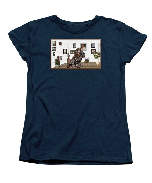 digital exhibition _Modern Statue of scrap Women's T-Shirt (Standard Cut) by Pemaro