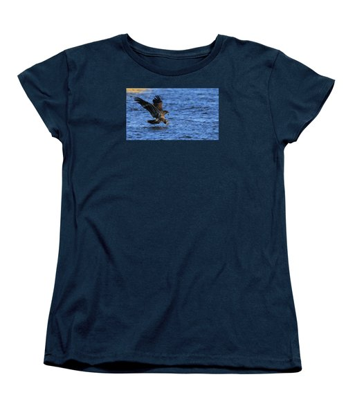 Women's T-Shirt (Standard Cut) featuring the photograph Dinner Run by Coby Cooper