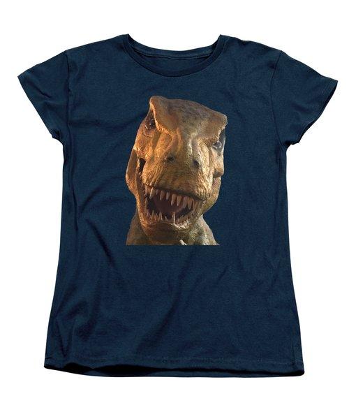 Dino Hello Women's T-Shirt (Standard Cut) by Charles Kraus