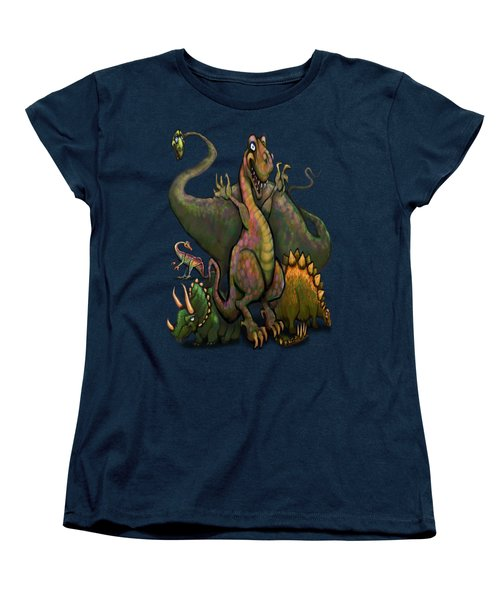 Dinosaurs Women's T-Shirt (Standard Cut) by Kevin Middleton