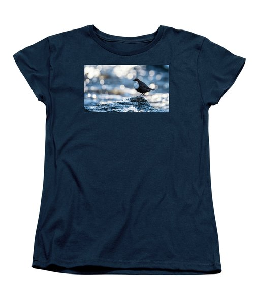 Dipper On Ice Women's T-Shirt (Standard Cut) by Torbjorn Swenelius