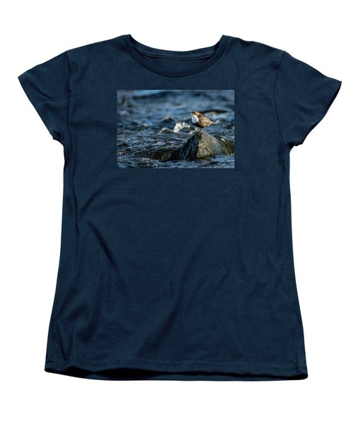 Dipper On The Rock Women's T-Shirt (Standard Cut) by Torbjorn Swenelius
