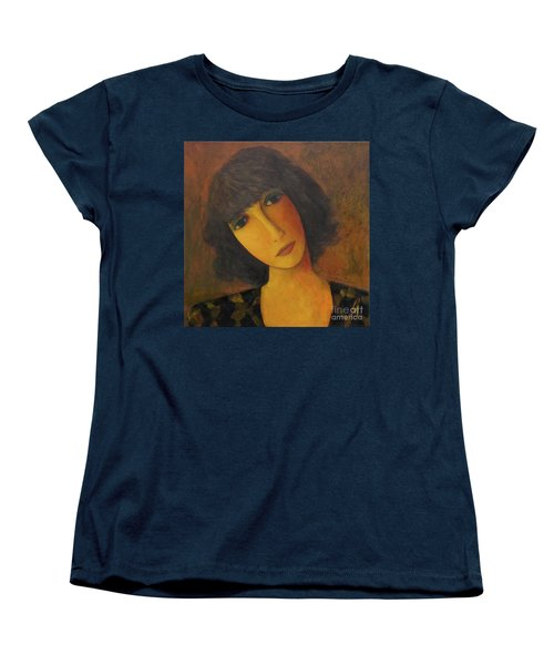 Women's T-Shirt (Standard Cut) featuring the painting Disbelieving by Glenn Quist