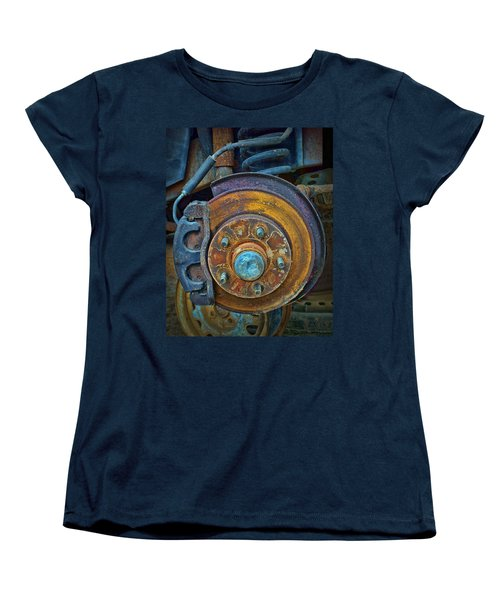 Disc Brake Assembly Women's T-Shirt (Standard Cut) by Nikolyn McDonald