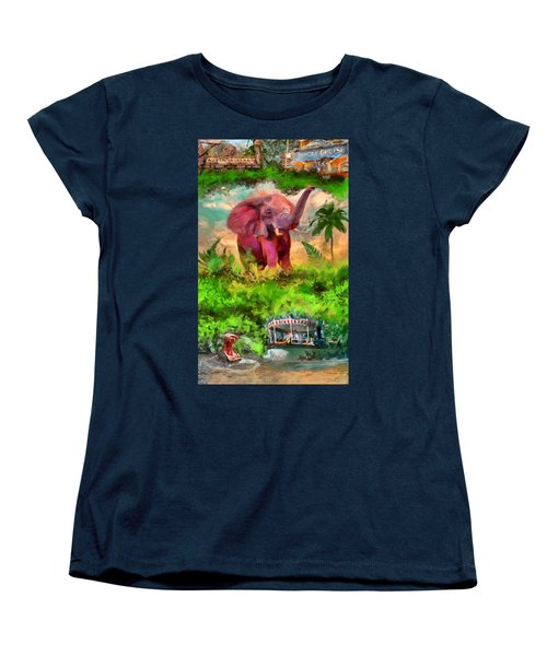 Disney's Jungle Cruise Women's T-Shirt (Standard Cut) by Caito Junqueira